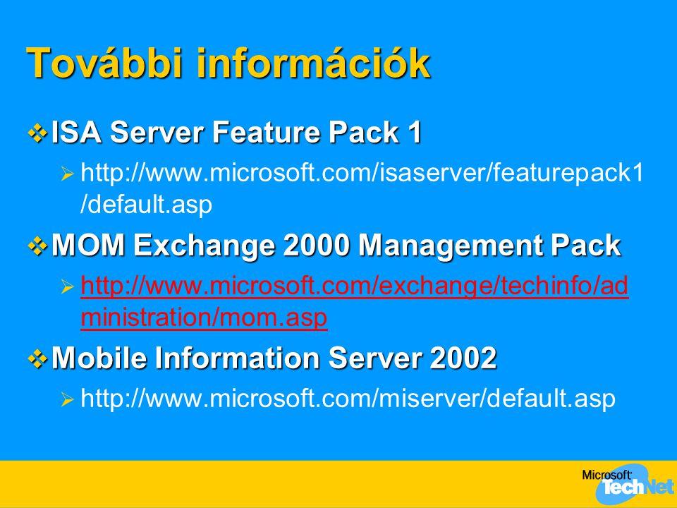 További információk ISA Server Feature Pack 1