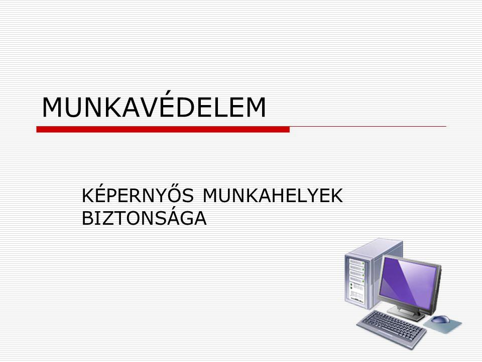 KÉPERNYŐS MUNKAHELYEK BIZTONSÁGA