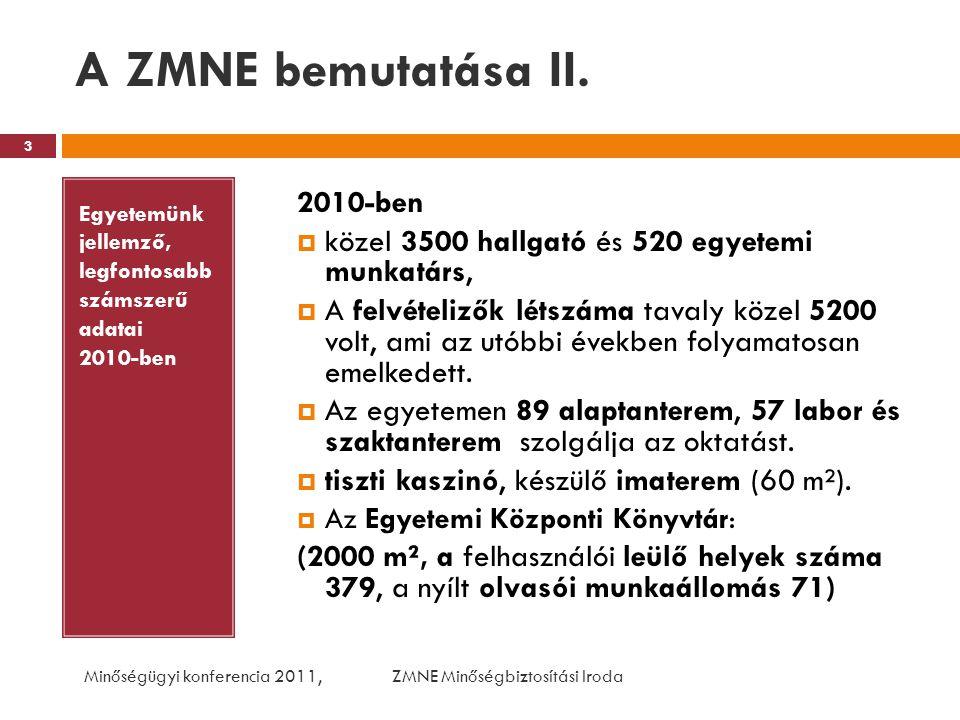 A ZMNE bemutatása II. 2010-ben