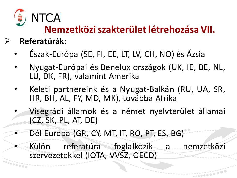 Nemzetközi szakterület létrehozása VII.