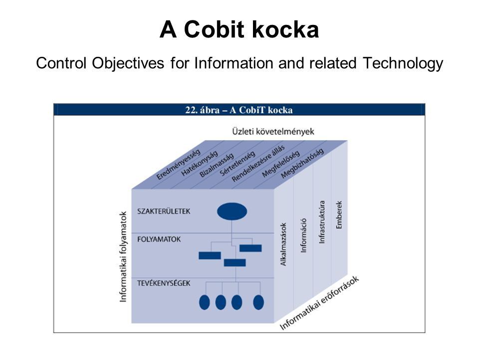 A Cobit kocka Control Objectives for Information and related Technology