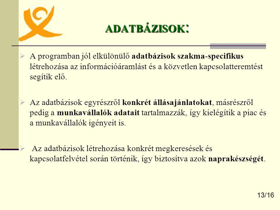 ADATBÁZISOK: