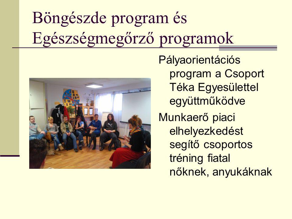 Böngészde program és Egészségmegőrző programok