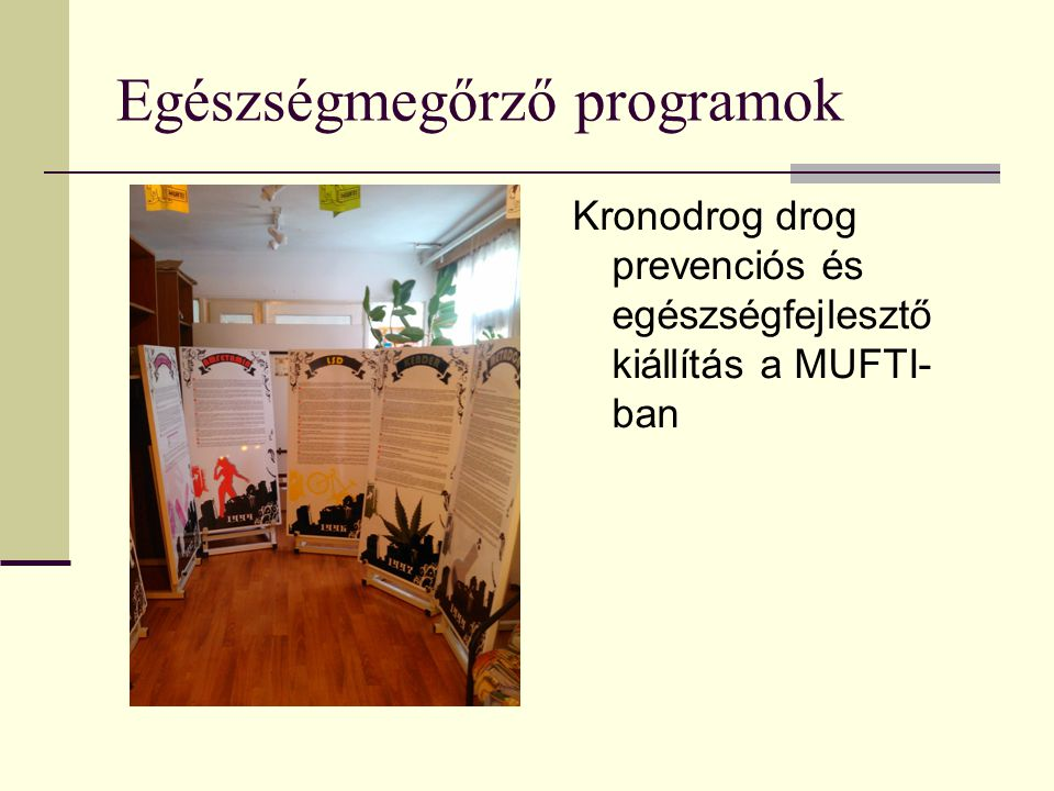 Egészségmegőrző programok
