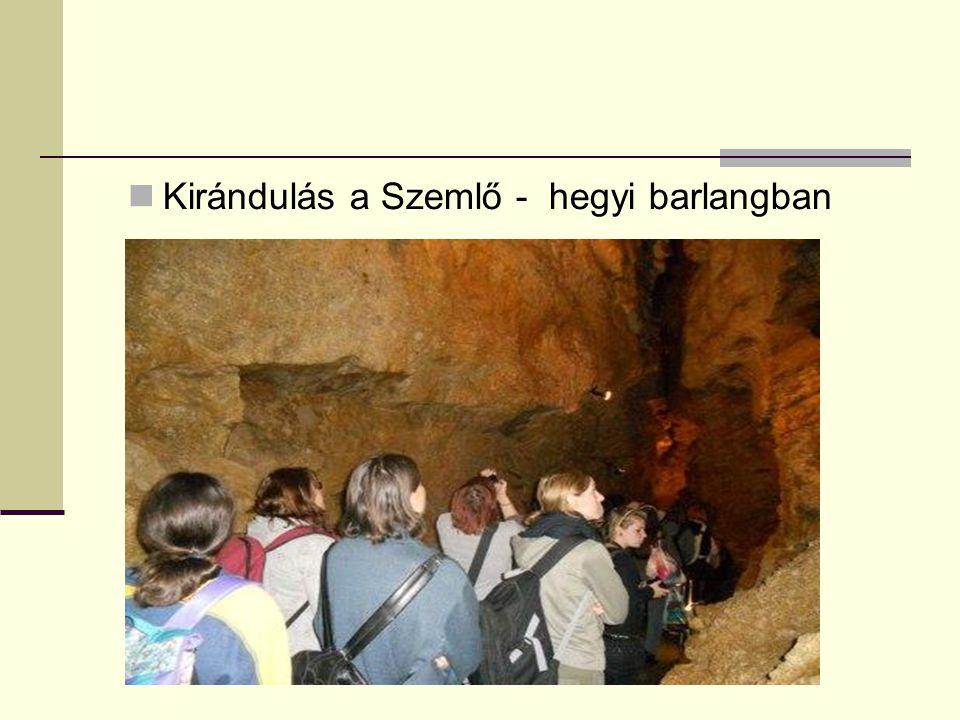Kirándulás a Szemlő - hegyi barlangban