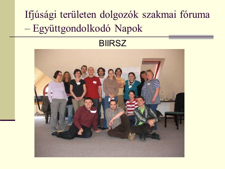 Ifjúsági területen dolgozók szakmai fóruma – Együttgondolkodó Napok