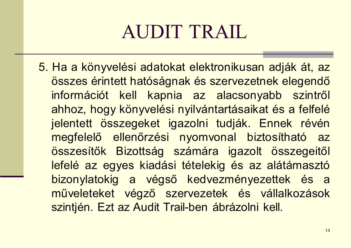 AUDIT TRAIL