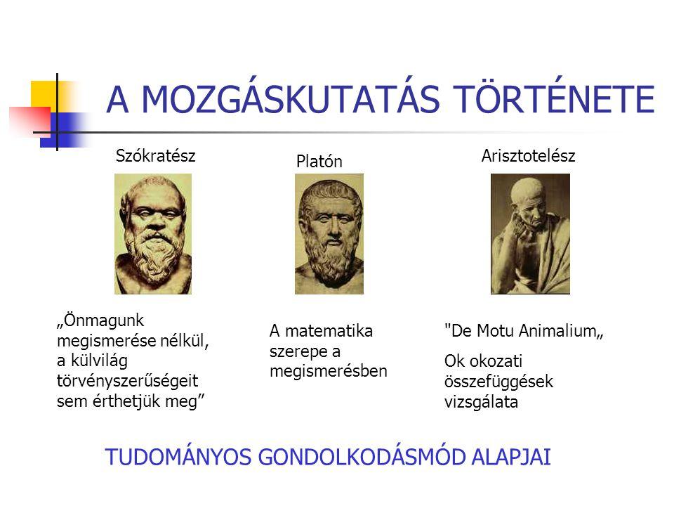 A MOZGÁSKUTATÁS TÖRTÉNETE