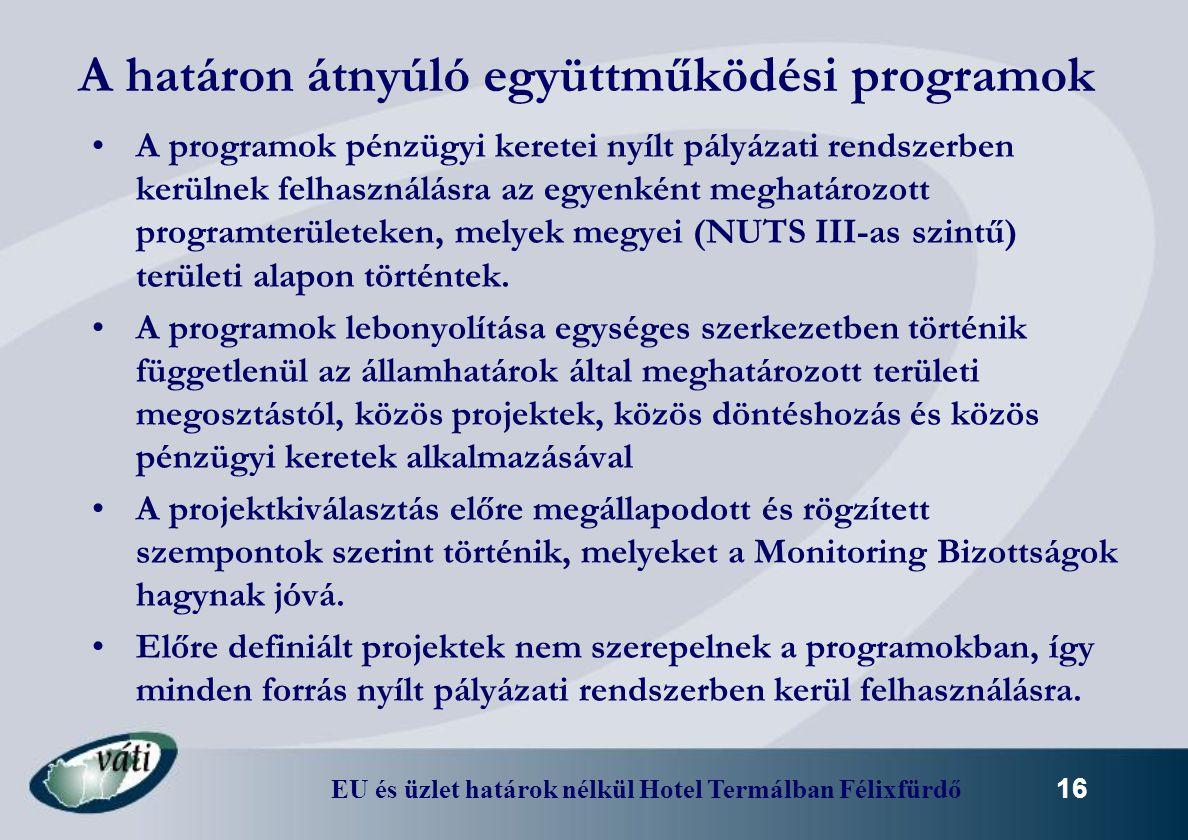 A határon átnyúló együttműködési programok