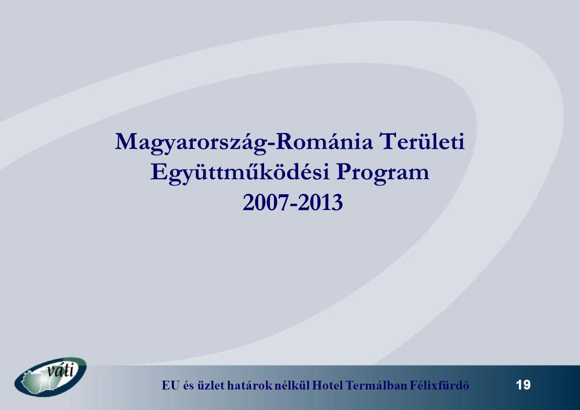 Magyarország-Románia Területi Együttműködési Program 2007-2013