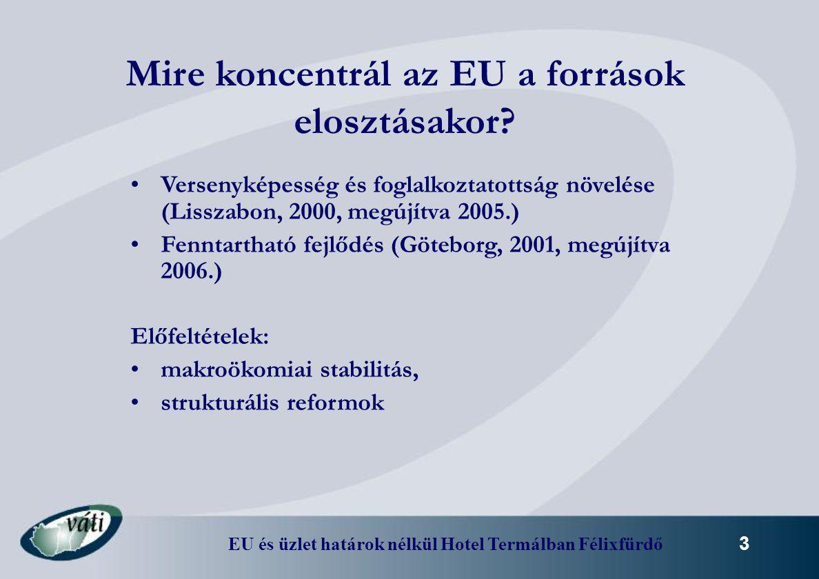 Mire koncentrál az EU a források elosztásakor