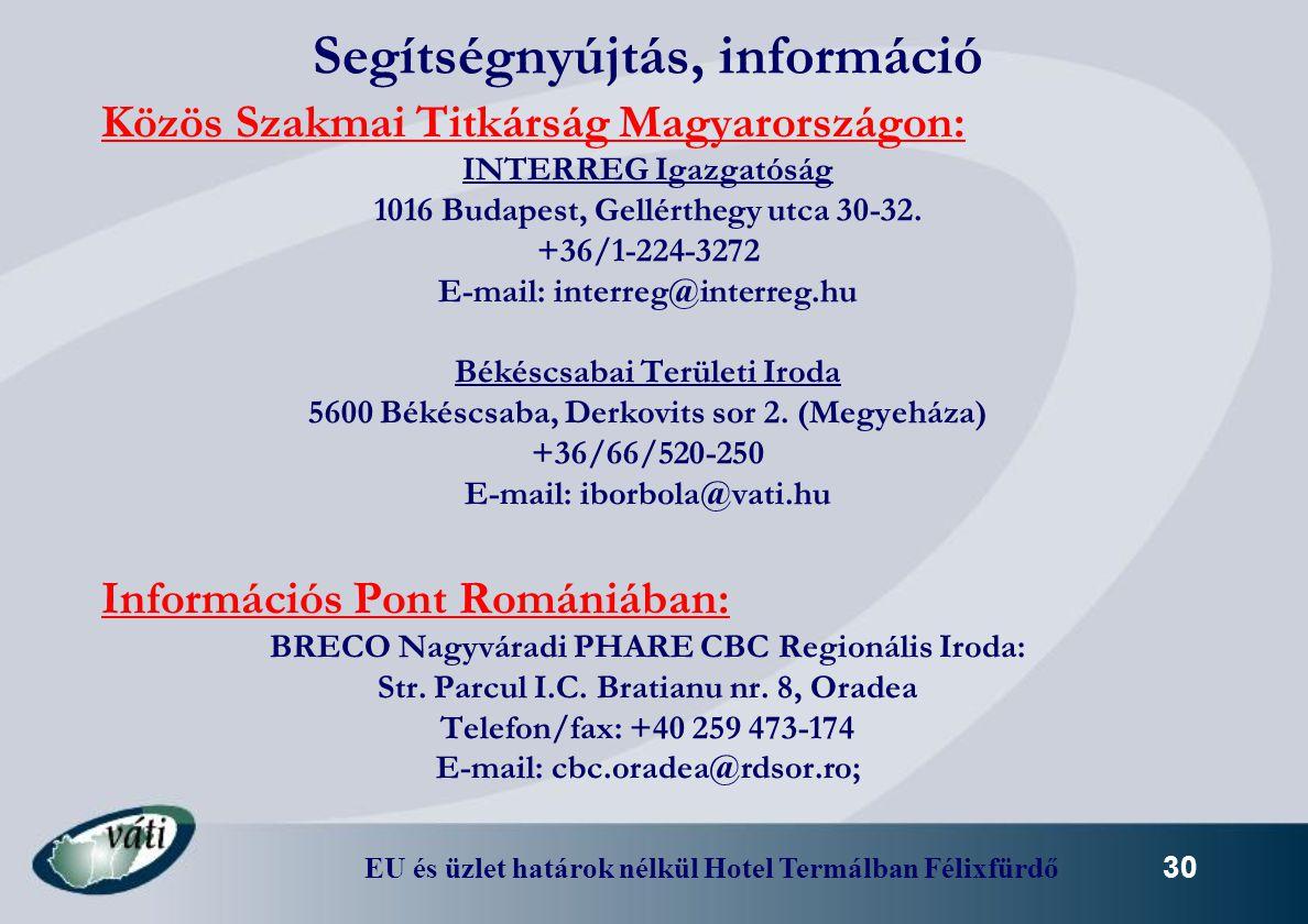 Segítségnyújtás, információ