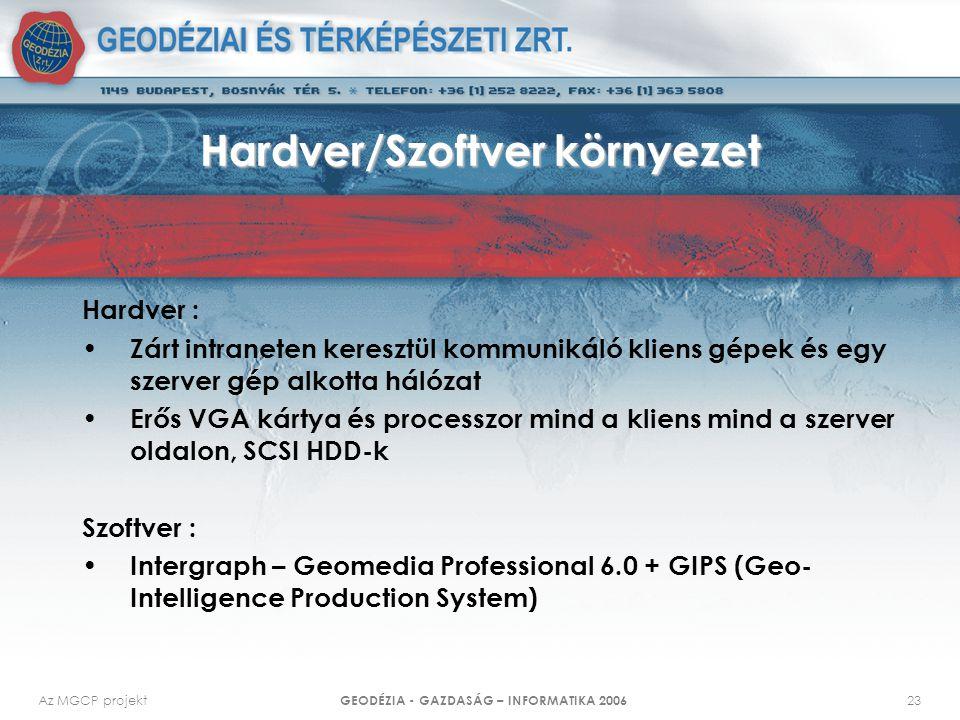 Hardver/Szoftver környezet