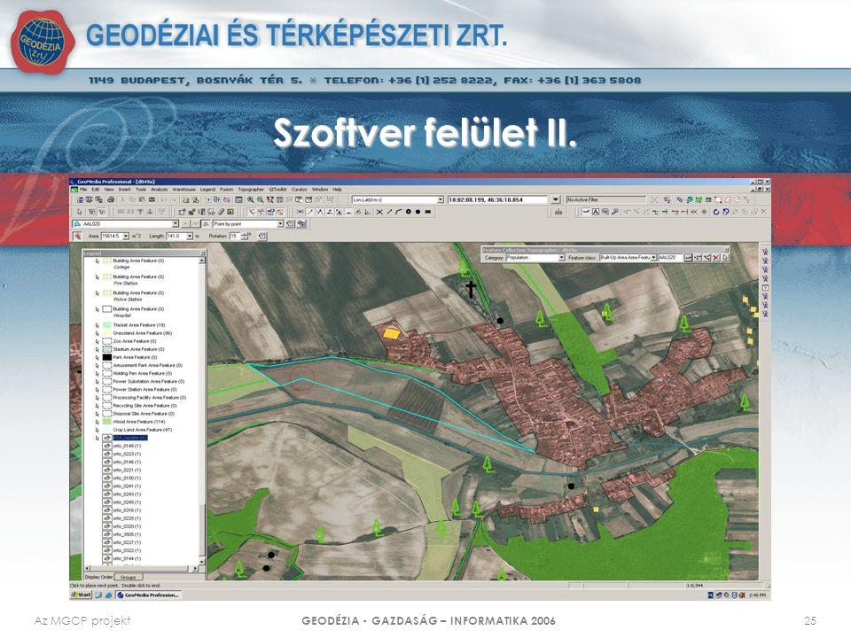 GEODÉZIA - GAZDASÁG – INFORMATIKA 2006