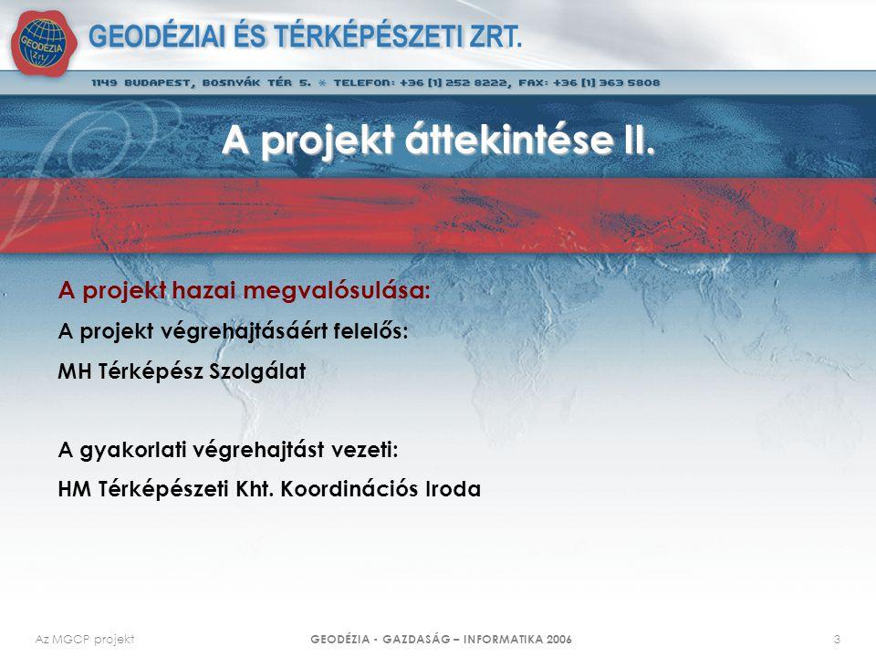 A projekt áttekintése II.