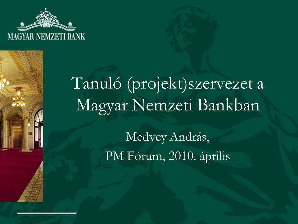 Tanuló (projekt)szervezet a Magyar Nemzeti Bankban