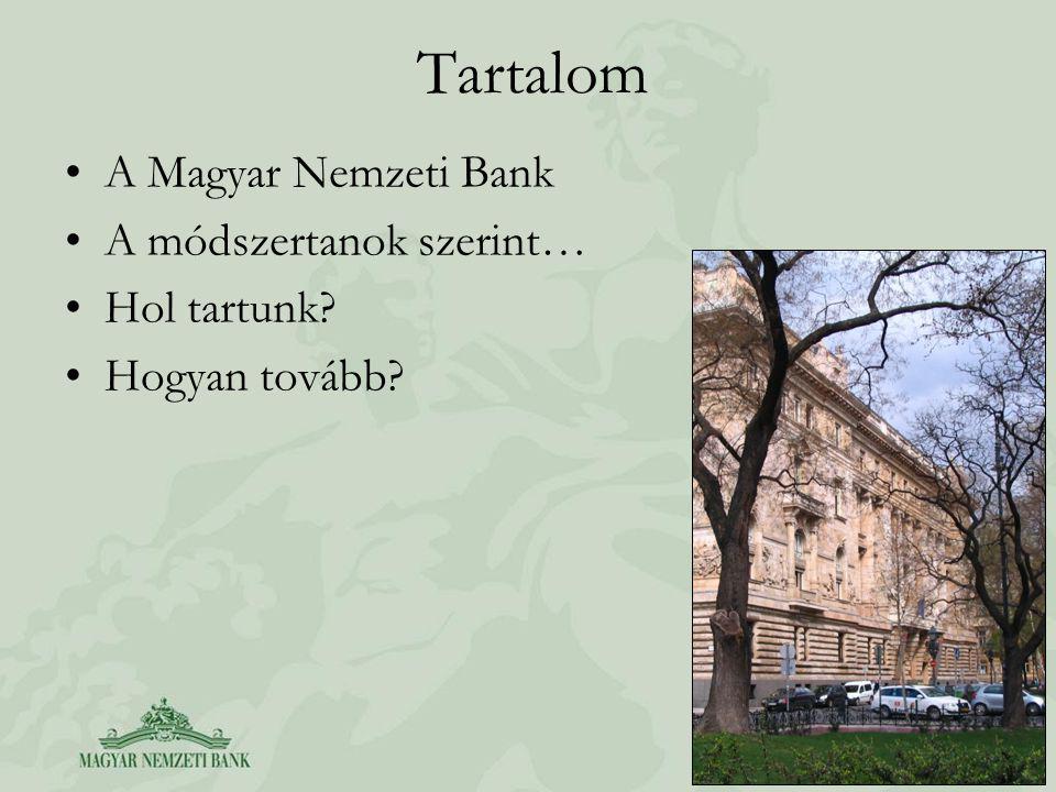 Tartalom A Magyar Nemzeti Bank A módszertanok szerint… Hol tartunk