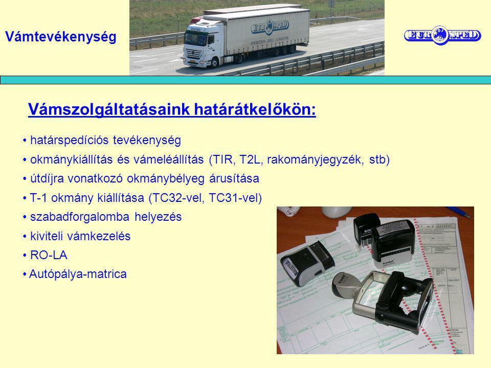 Vámszolgáltatásaink határátkelőkön: