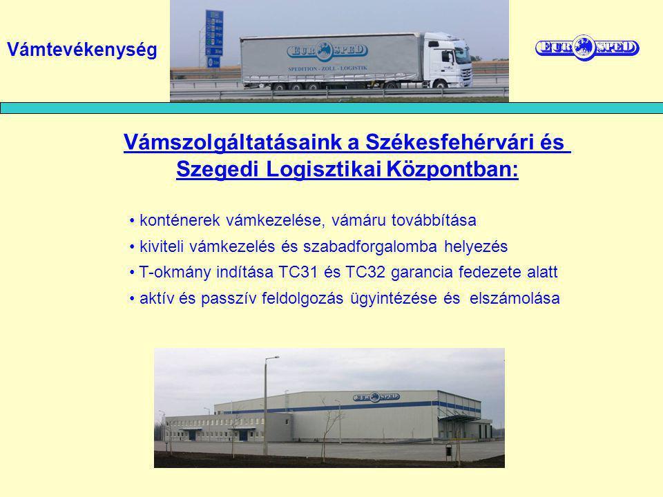 Vámszolgáltatásaink a Székesfehérvári és