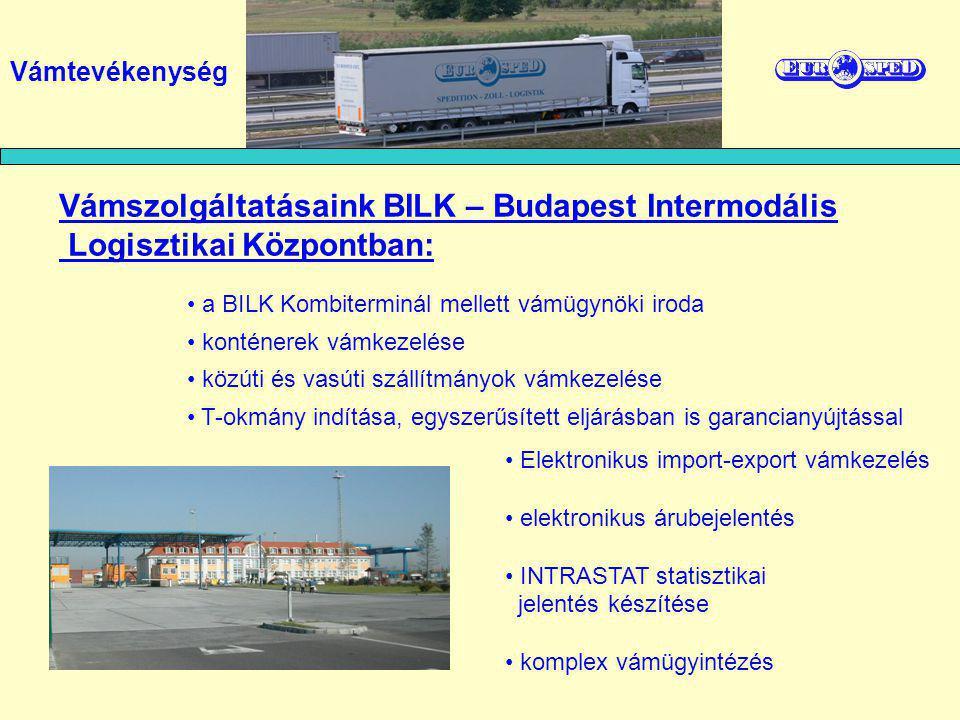 Vámszolgáltatásaink BILK – Budapest Intermodális
