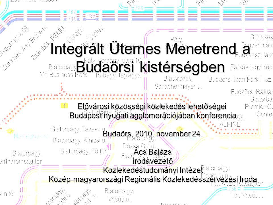Integrált Ütemes Menetrend a Budaörsi kistérségben