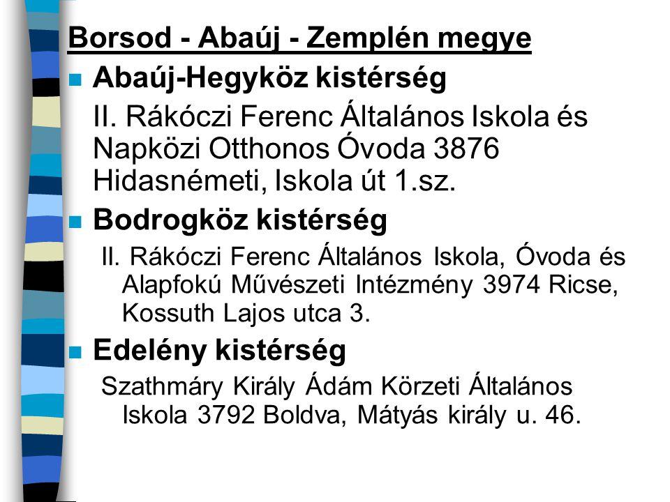 Borsod - Abaúj - Zemplén megye Abaúj-Hegyköz kistérség