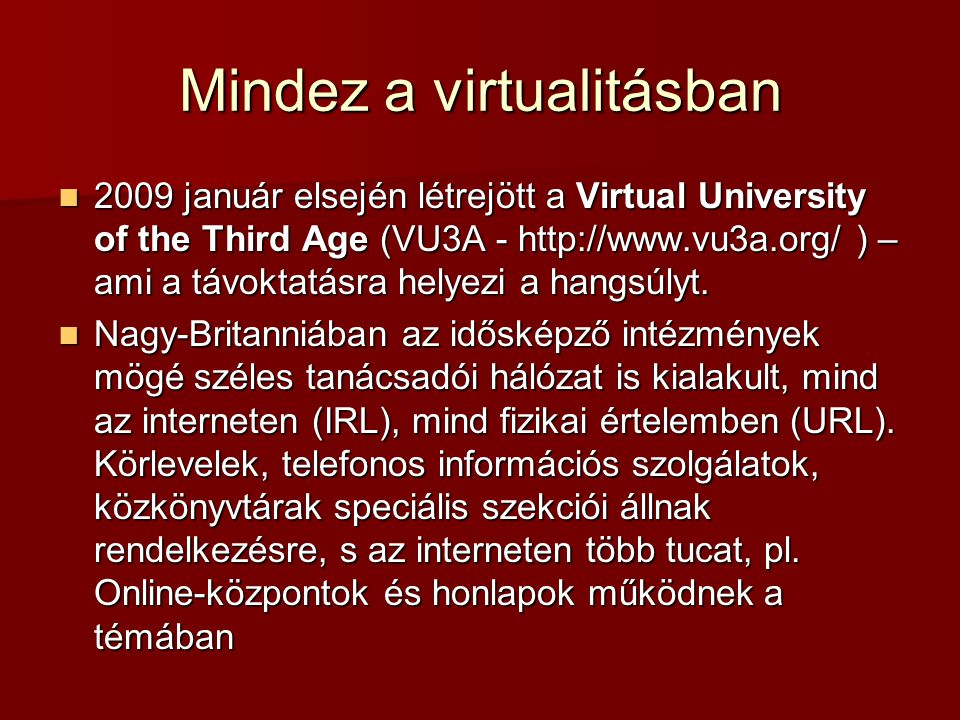 Mindez a virtualitásban