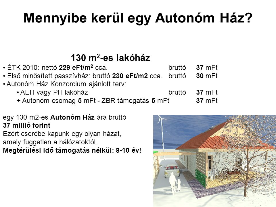 Mennyibe kerül egy Autonóm Ház