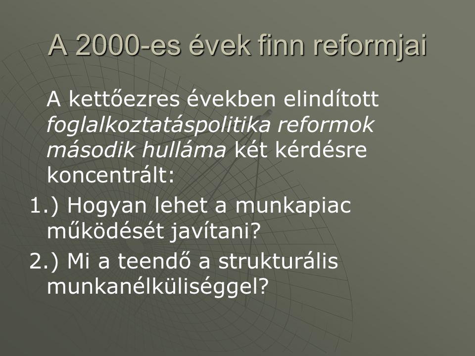 A 2000-es évek finn reformjai
