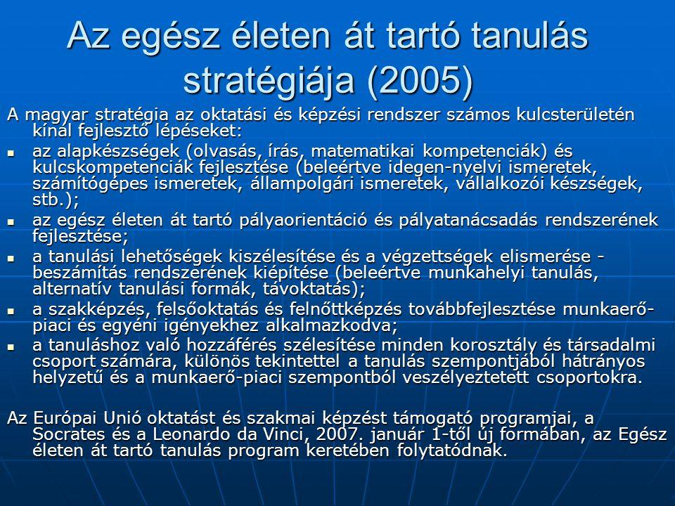 Az egész életen át tartó tanulás stratégiája (2005)