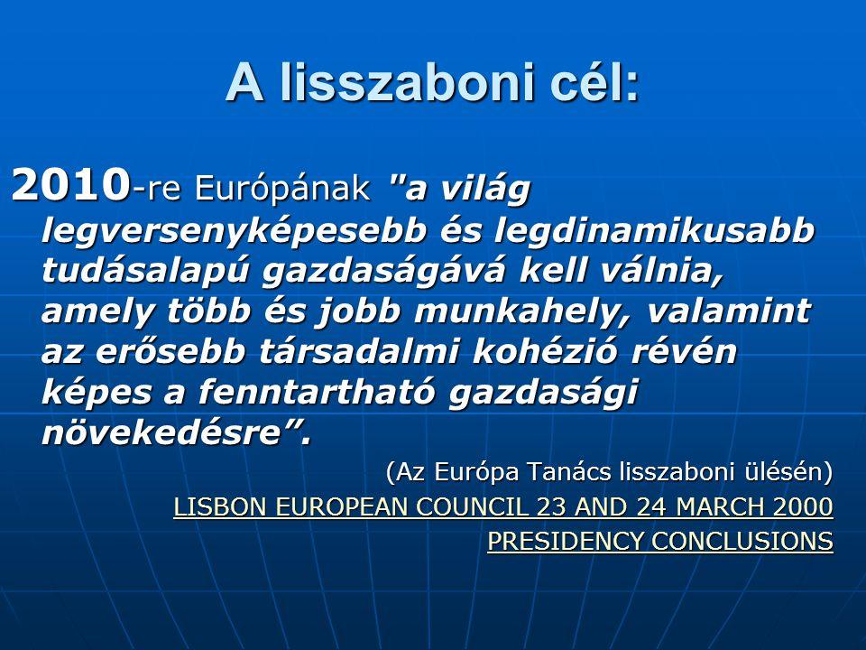 A lisszaboni cél:
