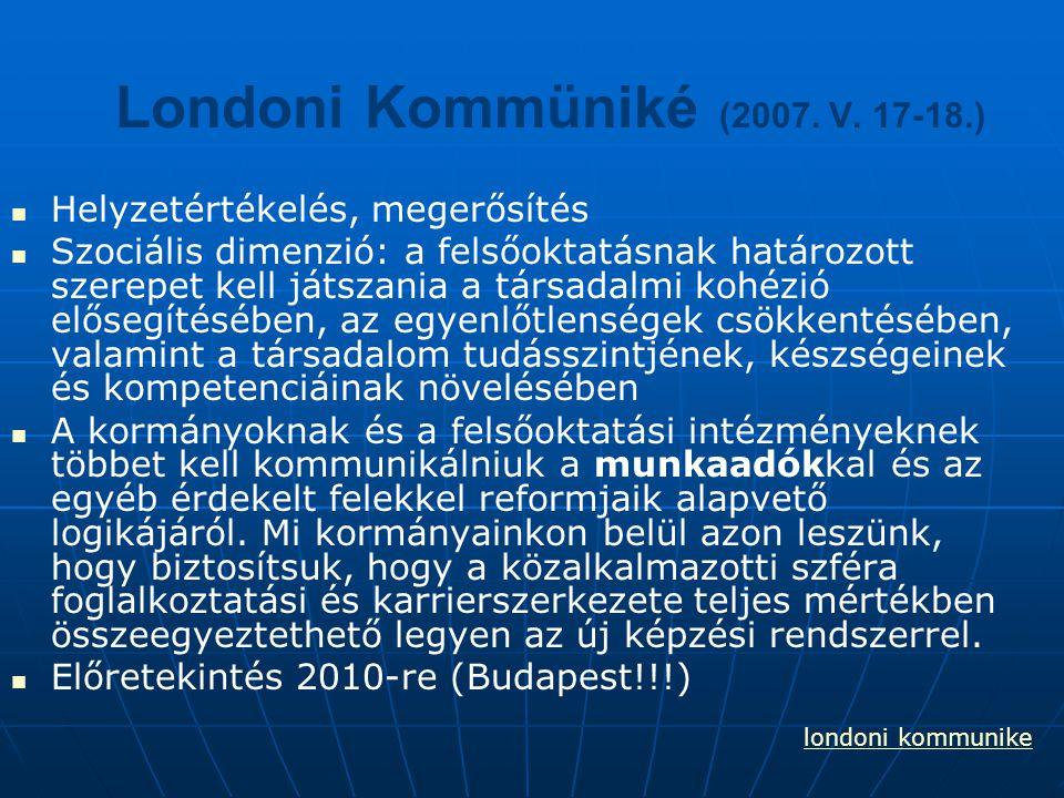 Londoni Kommüniké (2007. V. 17-18.)