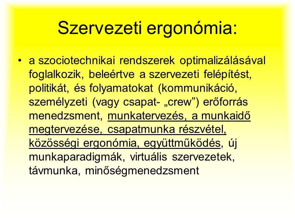 Szervezeti ergonómia: