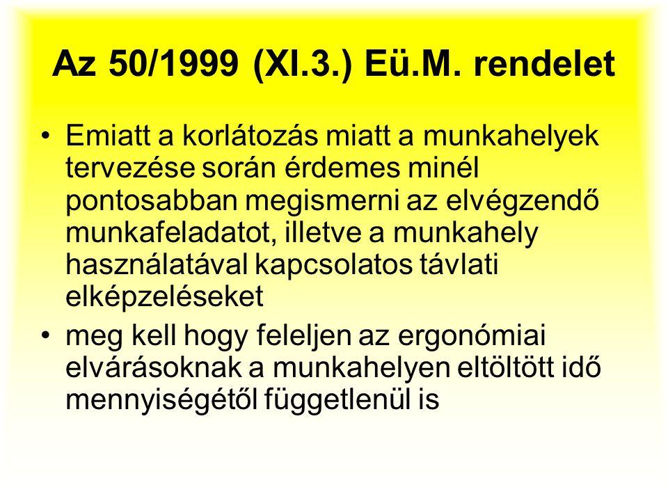 Az 50/1999 (XI.3.) Eü.M. rendelet
