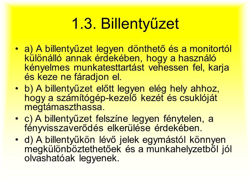 1.3. Billentyűzet