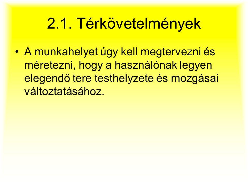 2.1. Térkövetelmények