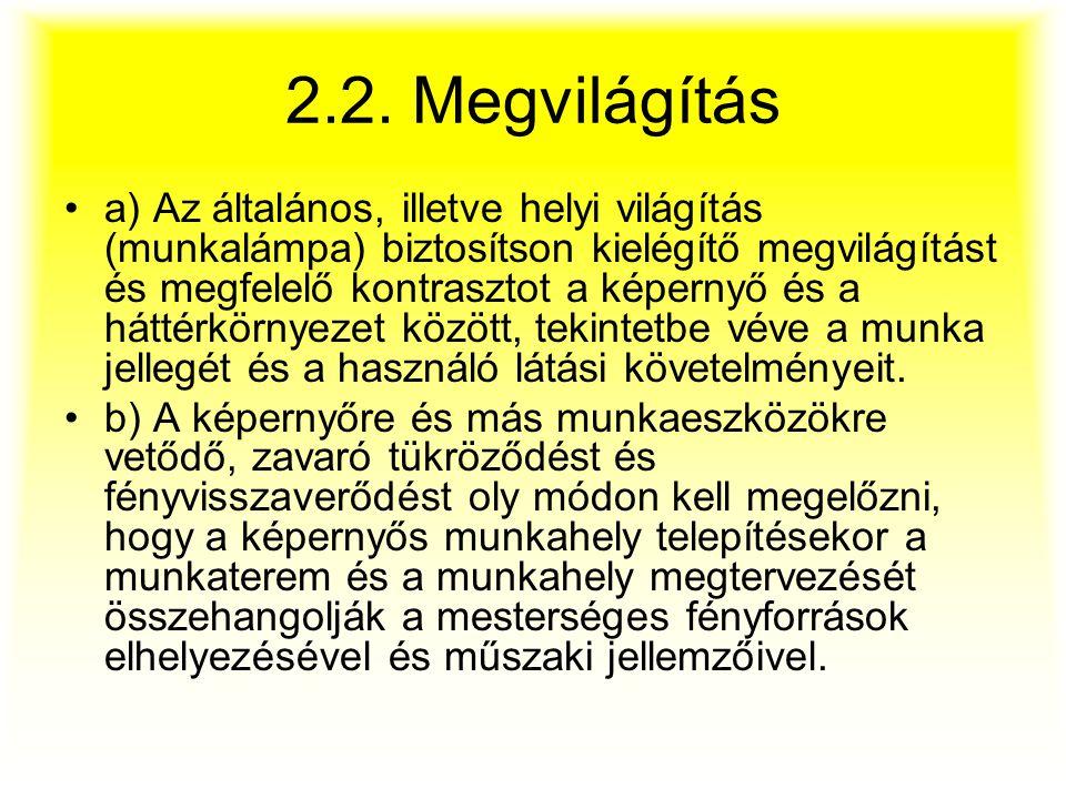 2.2. Megvilágítás