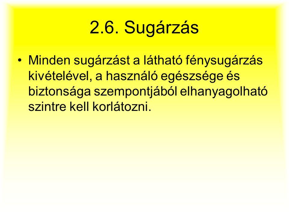 2.6. Sugárzás