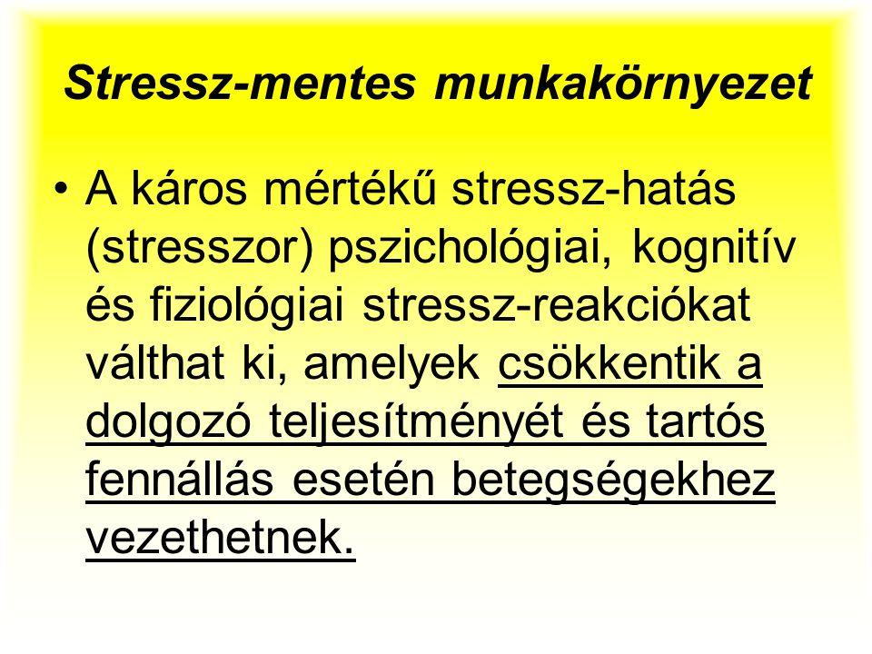 Stressz-mentes munkakörnyezet