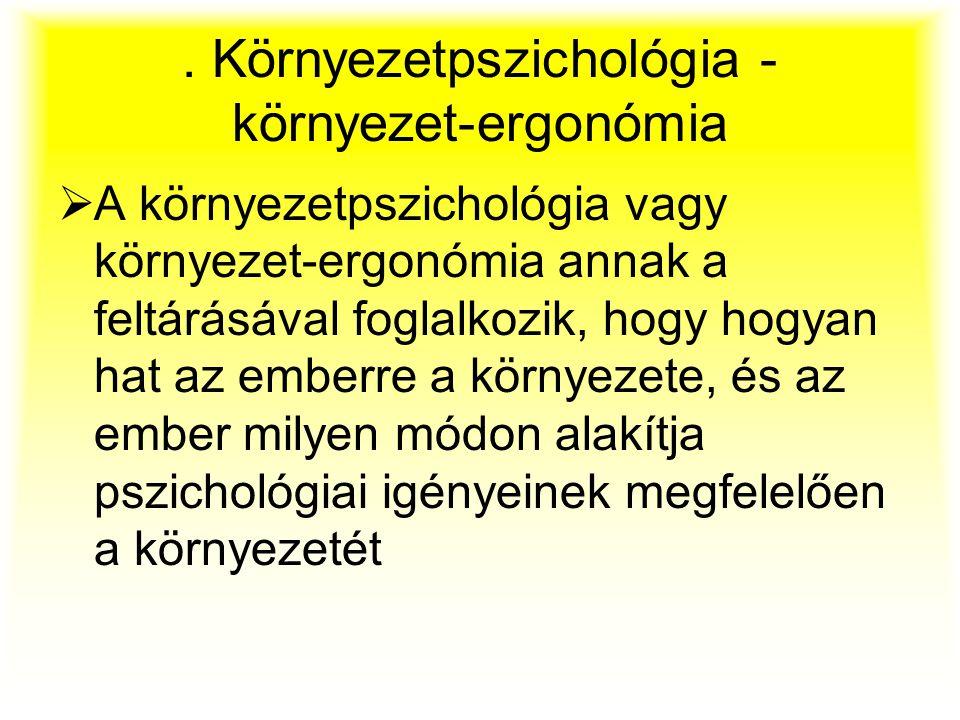 . Környezetpszichológia - környezet-ergonómia