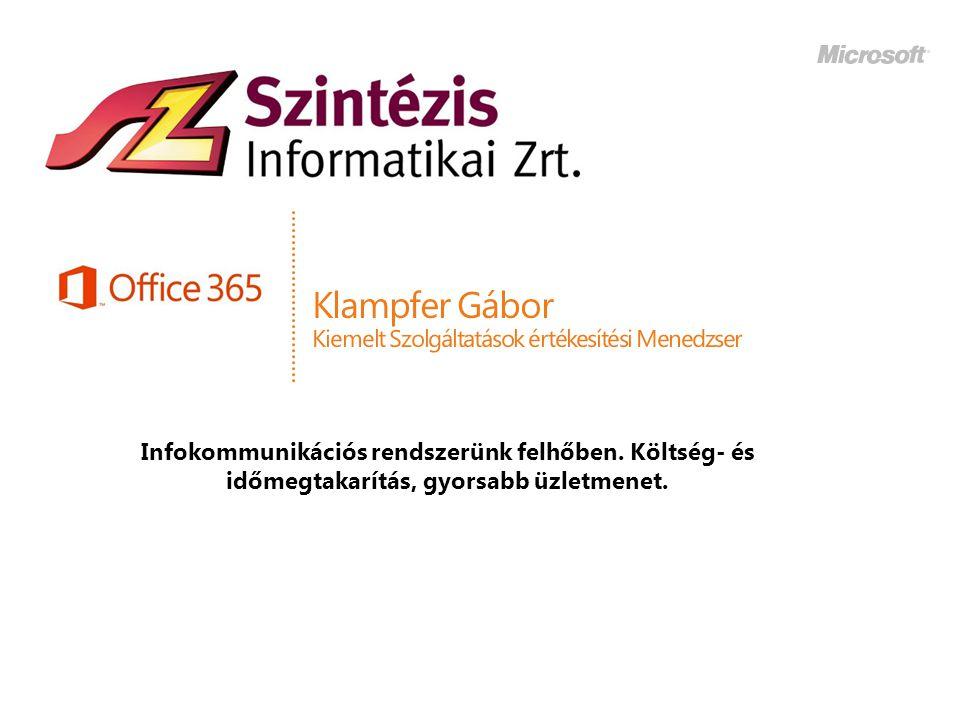 Klampfer Gábor Kiemelt Szolgáltatások értékesítési Menedzser