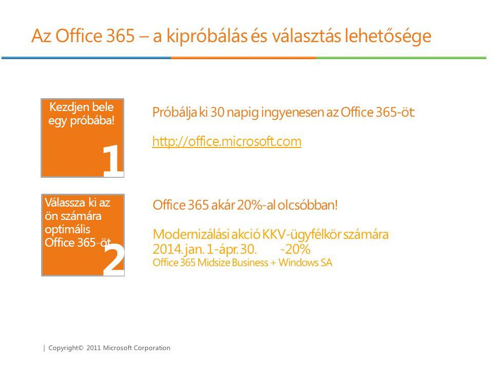 Az Office 365 – a kipróbálás és választás lehetősége