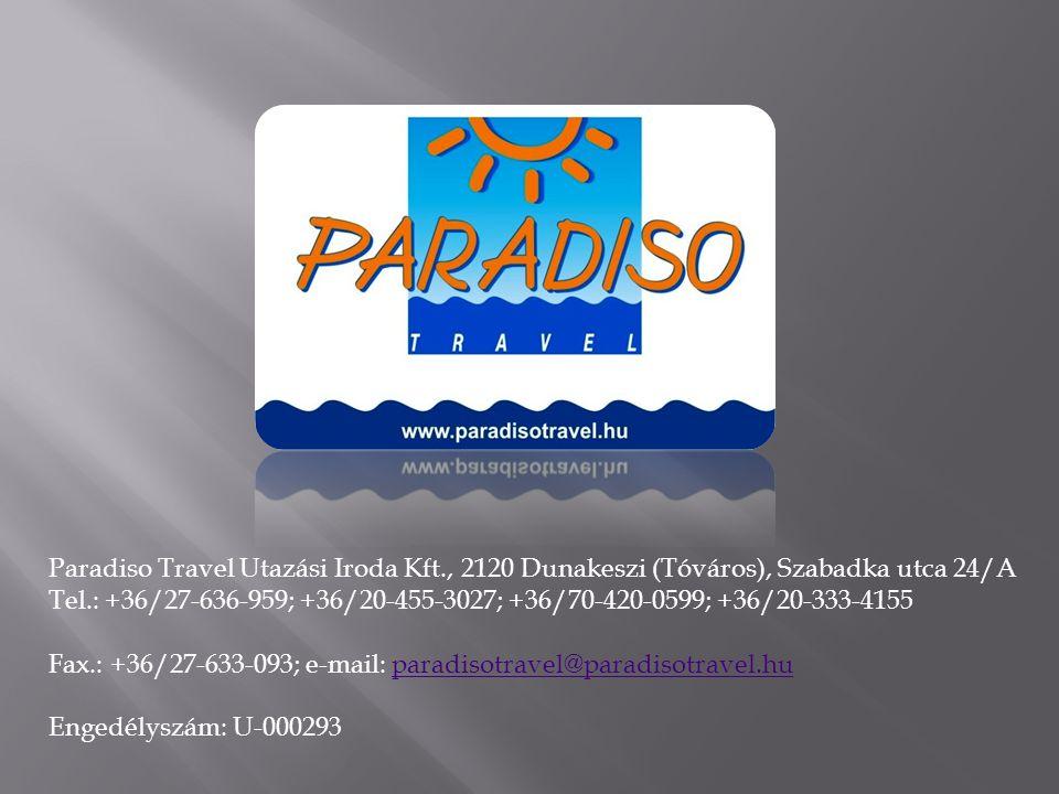 Paradiso Travel Utazási Iroda Kft