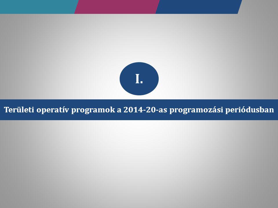 Területi operatív programok a 2014-20-as programozási periódusban