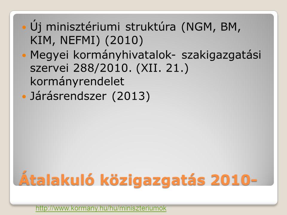 Átalakuló közigazgatás 2010-