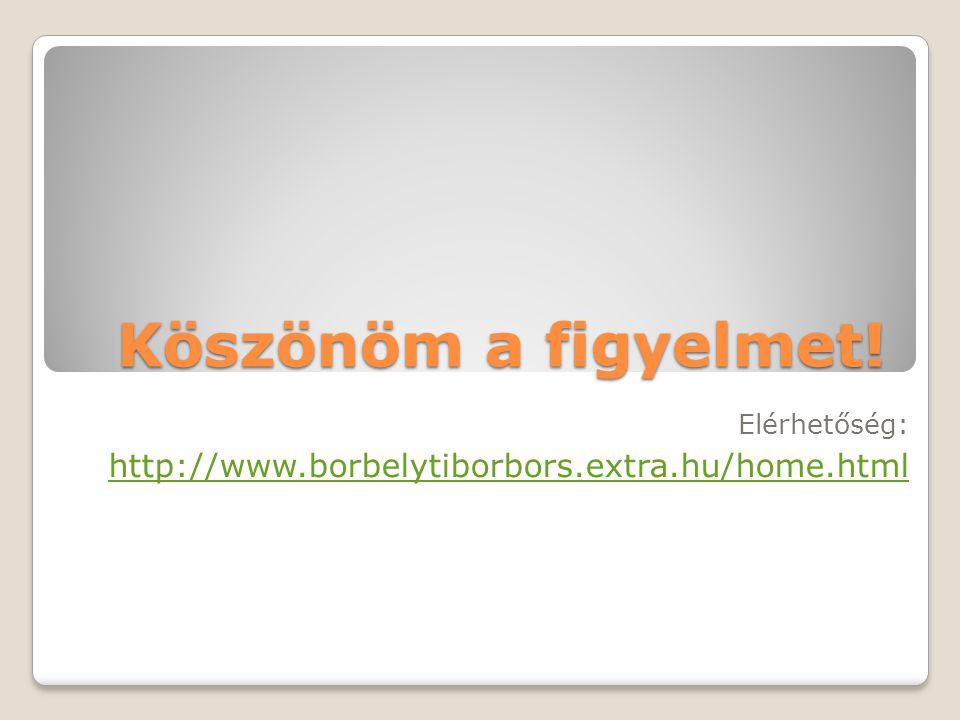 Elérhetőség: http://www.borbelytiborbors.extra.hu/home.html