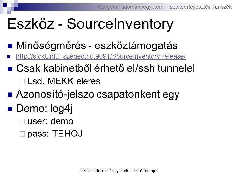 Eszköz - SourceInventory