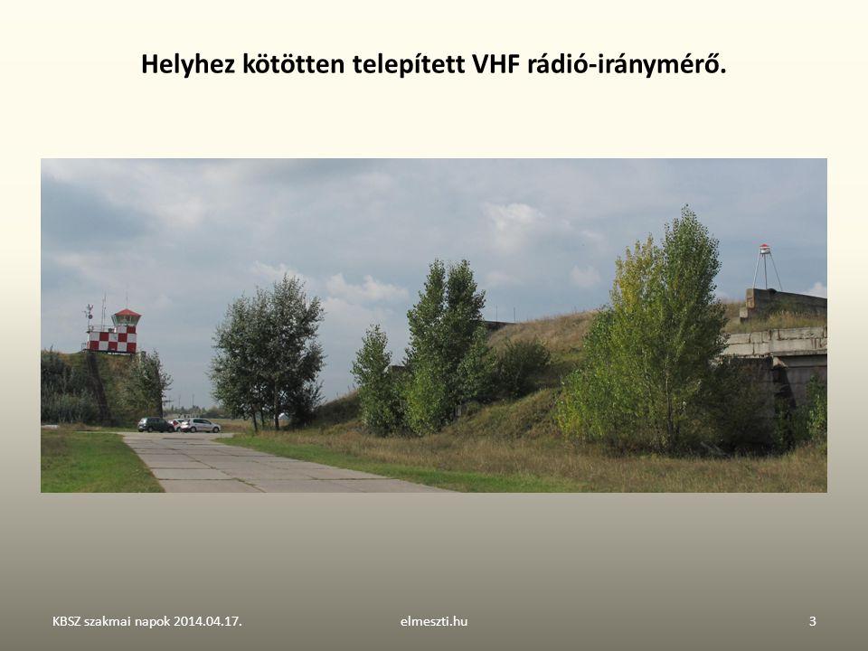 Helyhez kötötten telepített VHF rádió-iránymérő.