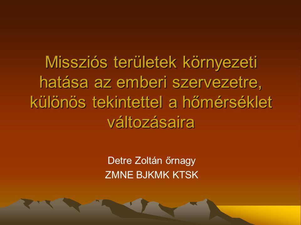 Detre Zoltán őrnagy ZMNE BJKMK KTSK