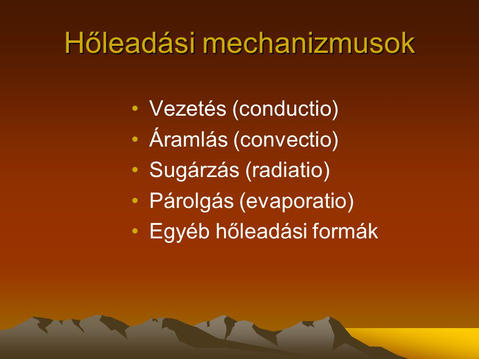Hőleadási mechanizmusok